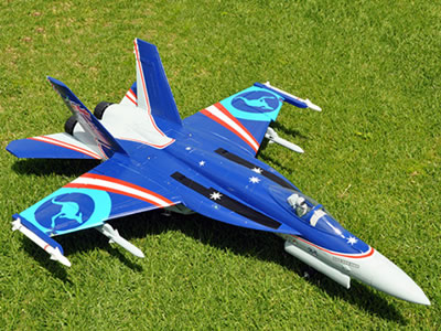 Freewing F/A-18E Blue Super Hornet V2 90mm EDF Thrust Vectoring Jet - PNP RC Airplane