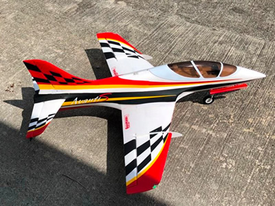 Freewing Red Avanti S 80mm EDF Ultimate Sport Jet-PNP RC airplane