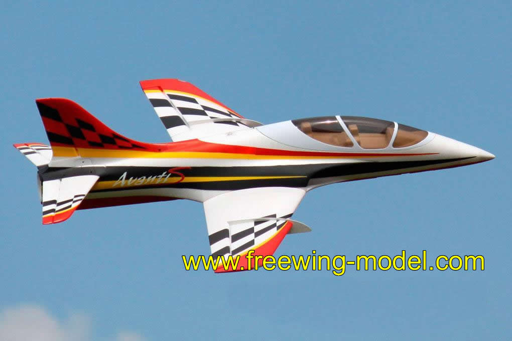 Red color Freewing Avanti S 80mm EDF JET RC airplane